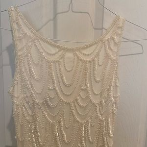 Pearl embellished white dress (6)